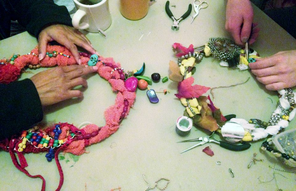 Making garlands