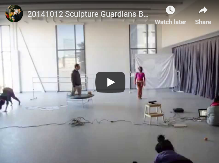 Sculpture Guardians BOCO Tech Rehearsal Time Lapse