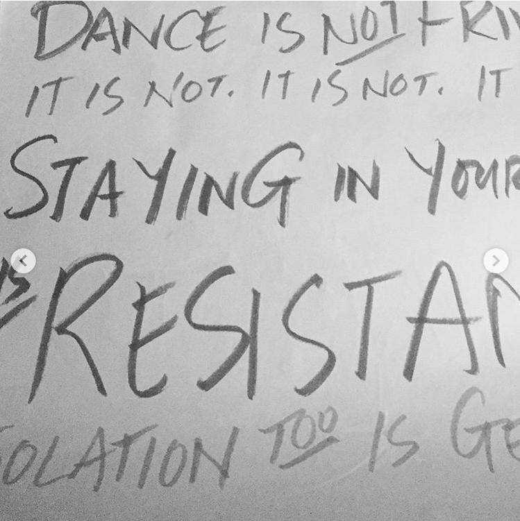 Dance is not frivolous. it is not. it is not. it is not.