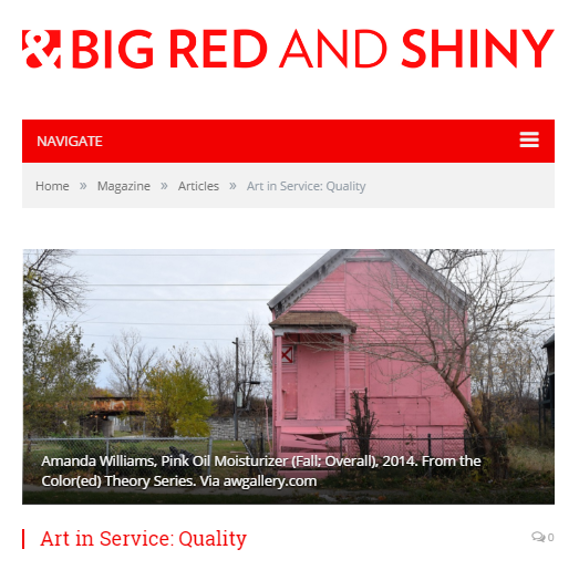 """Art with Teeth"" referenced in Big Red & Shiny, Boston's premier online Journal about contemporary art and culture."